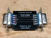 Commodore 64 / 128 BBS Null modem cable adapter