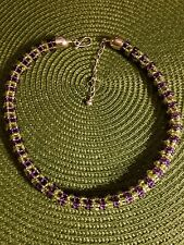 Jay King amethyst and peridot rope necklace