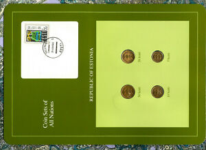 Coin Sets of All Nations Estonia UNC 20,50 Senti 1992 10,5 Senti 1991