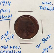 1914 5 Cent Buffalo Nickel Full Horn