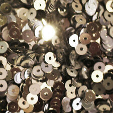 4mm Flat SEQUIN PAILLETTES ~ SILVER Metallic ~ Made in USA.