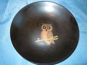 COUROC MID CENTURY MODERN OWL BAKELITE HARD PLASTIC BOWL DISH TRAY NICE QUALITY
