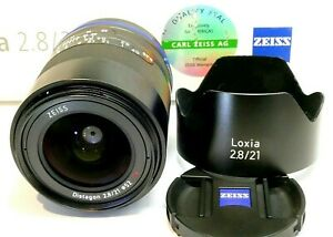 Zeiss Loxia 21mm f2.8 Distagon T , And Mount lens with original box paperwork