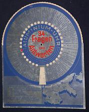 Aluminium-Uhr. Werbung f. Aluminium u. Informationen über Al-Legierungen.Ca 1935