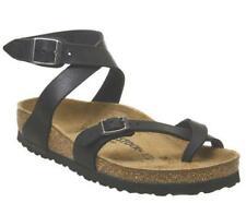 Womens Birkenstock Black Leather Buckle Sandals Size UK 4.5 *Ex-Display