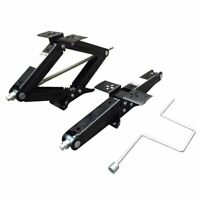 2T Ton Scissor Wind Up Jack Lift Black Jack Stands With Handle For Car Emergency