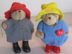 Paddington Bear Eden Toys Vintage 1987 Mini Jointed Pair