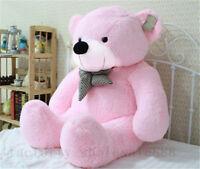 31'' Big Plush Teddy Bear Pink Soft Stuffed Doll Kid Toy Birthday Xmas Gift 80cm