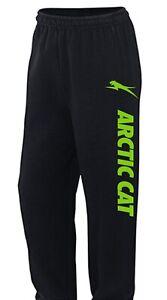 ARCTIC CAT BLACK Sweatpants Sm TO 5X CHOOSE DESIGN COLOR Snowmobile ATV