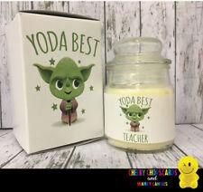 Cheeky Candles - Gift Present Birthday Christmas Thank You - Yoda best Teacher