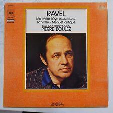 vinyl lp record RAVEL - BOULEZ ma mere i`oye , la valse , menuet antique