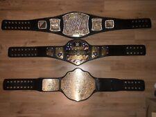 More details for wwe commemorative belt bundle world hevyweight, usa championship bundle 3 belts!