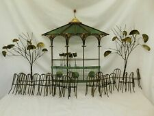 C JERE SIGNED METAL WALL ART SCULPTURE GAZEBO CAFE TREE BANDSTAND SIDEWALK CHAIR
