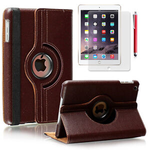 360 Rotating Leather Smart Case Sleep Wake for Apple iPad Air 2 / Mini 1 2 3