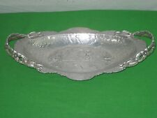 Vintage Hand Wrought Creations By Rodney Kent Aluminum Tray #404  Tulip Design