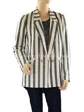 Dotti Club Black White Stripe Blazer Jacket Size 12 With Tags