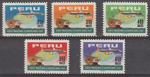 Peru 1969 #517, C238-41 First Peruvian Airlines Flight to Europe - MNH