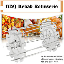 BBQ Kebab Cage Rotisserie Skewer Stainless Steel Grill For Roaster Oven Tools