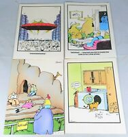 """Lot of 4 Vintage 1982 """"The Far Side"""" Greeting Cards (See photos for greetings)"""