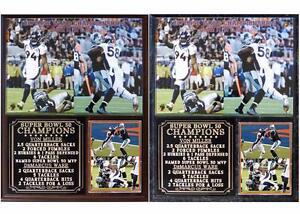 Denver Broncos Super Bowl 50 Champions Von Miller DeMarcus Ware Photo Plaque