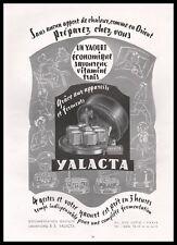Publicité YALACTA Yaourtière Yaourt  vintage ad   1953 - 9j