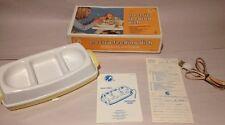 1977 Vintage Sanitoy Nursery Needs, Electric Baby Feeding Dish 1700 3 Section UL