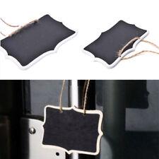 12Pcs Rectangular Mini Kids Blackboard Bifacial Placeholder Hanging Tag Crafts
