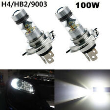 2x H4 6000K 100W LED HID White 20-SMD Projector Fog Driving DRL Light Bulbs