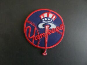 NEW YORK YANKEES  MLB BLACK & RED  Embroidered 3 x 3-1/2 Iron On Patch