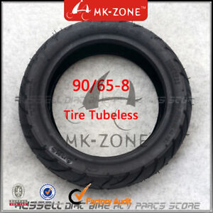 90/65-8 Tire Tubeless Tyres vacuum For Electric Scooter Super Pocket bike 40PSI