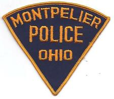 **MONTPELIER OHIO POLICE PATCH**