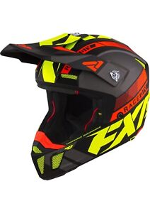 2021 FXR CLUTCH BOOST HELMET - Hi Vis/Nuke Red/Gray -  MEDIUM  - XL -  2XL - NEW