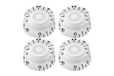 Set of 4 White Speed Knob Gibson Epiphone Style -Set de botones blancos Les Paul