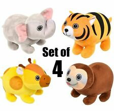 (Set Of 4) 8'' Adorable Bubble Pet Plush Assortment Soft stuffed Animal Toy
