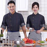 Chef Coat Bakery Kitchen Cook Jacket Unisex Restaurant Uniform Hotel Workwear
