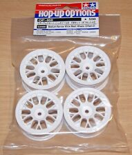 Tamiya 53468 Medium-Narrow White Mesh Wheels (Offset +2) (TA06/TA07/TB04/TB05)