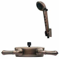RV/Motorhome Shower Faucet Valve Diverter with Hand Held Shower Brushed Bronze
