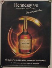 New Lot of 2 Store Display Paper Posters HENNESSY VS Hispanic Heritage