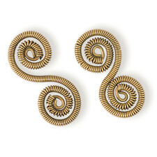 Steampunk Spiral Connectors - Brass - Jewelry Finding