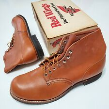 1980s Red Wing Boots 565 Leather DeadStock Vintage Nos Usa Made 13D Work 90s Og