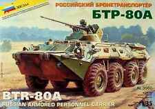 Zvezda 500783560 – 1 35 Scale Russian BTR 80 a Personnel Carrier