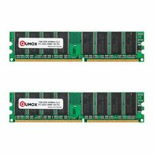 QUMOX 2GB (2x 1GB) DDR 400MHz PC-3200 (184 PIN) DIMM MEMORY