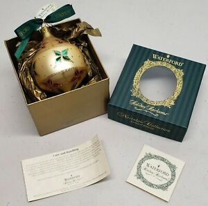 Waterford Holiday Heirlooms  Christmas Ornament Limited EDITION Nostalgic 1998
