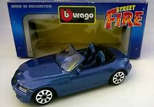 BURAGO STREET FIRE 1:43 DIE CAST BMW M ROADSTER BLU METAL 4149 MADE IN ITALY