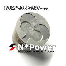 5 GROOVE STD PISTONS & RINGS SET 6  for NISSAN SD33 DIESEL PATROL MQ 3.3L 12V