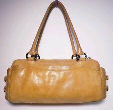 BOSCA Women's Curry Color Leather Multi Pockets Handbag!