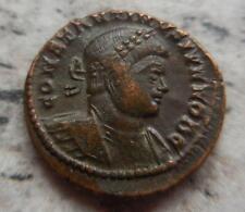 Belle BRONZO ROMANO MEDAGLIA imperatore Costantino REV soldati con Legion standard