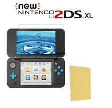 Protection écran en verre trempé + lingette micro fibre pour Nintendo New 2DS XL