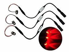 3 Pack Micro Effects Red LED Light & Control Strobe Flash Blink 9 Volt MELRD9V3P