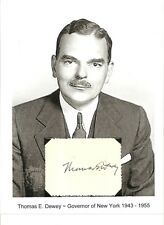 Thomas E Dewey Autograph Governor New York District Attorney Owosso Michigan #2